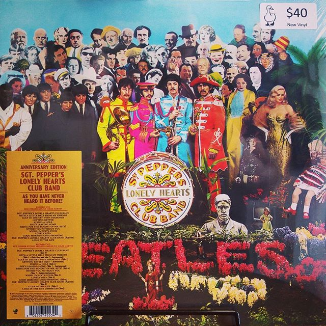 The Beatles - Sgt. Pepper's Lonely Hearts Club Band Anniversary Edition 2LP. New 2017 Stereo Mix + 2nd LP of alternative takes! #thebeatles #sgtpepperslonelyheartsclubband #vinyloftheday #burlington #recordstore #blackduckentertainment