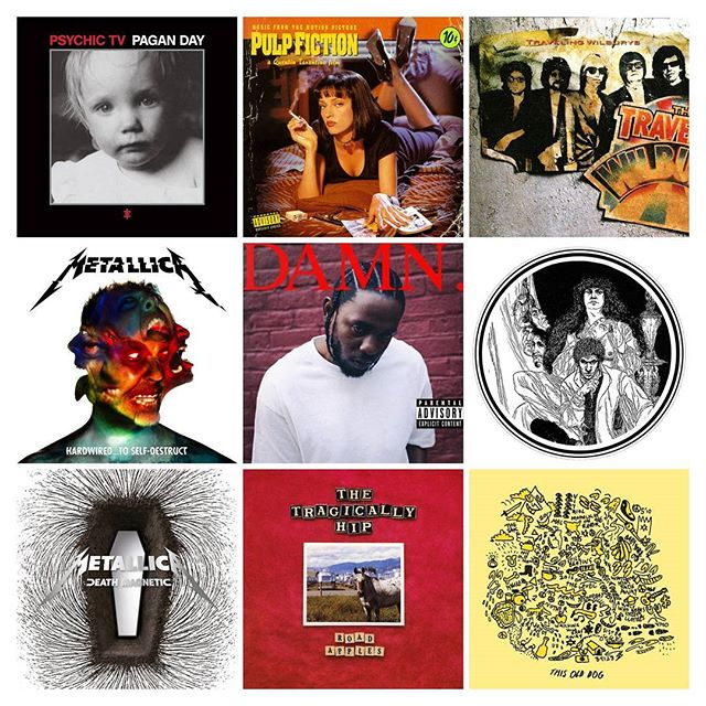 Some new vinyl arrivals today. #psychictv #pulpfiction #travelingwilburys #metallica #kendricklamar #macdemarco #tragicallyhip #vinyl #records #blackduckentertainment #BurlON ##HamOnt #recordstore