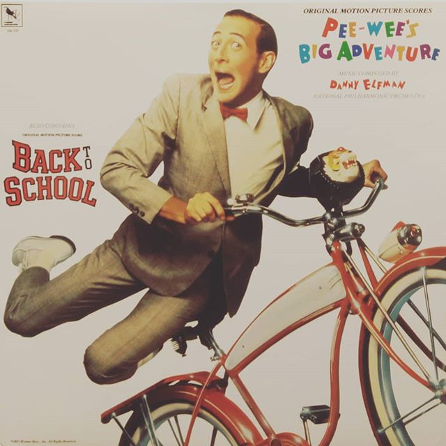 Danny Elfman double feature. Pee-wee's Big Adventure on side 1 and Back To School on side 2. #dannyelfman #ost #soundtrack #vinyl #records #blackduckentertainment #BurlON #HamOnt #recordstore