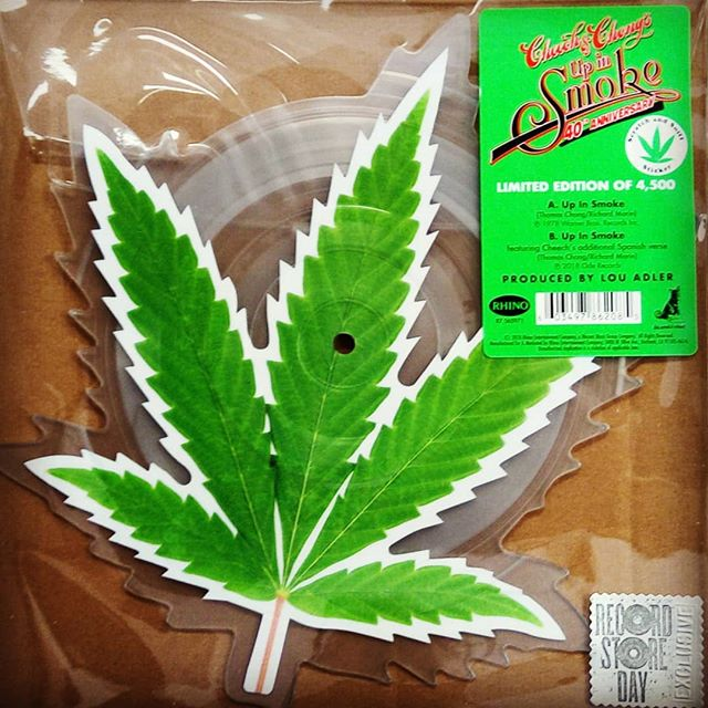 """Cheech & Chong Up in Smoke 40th Anniversary 7"""" picture disc. This is a #rsd2018 exclusive, but had to post it today. #420 #vinylrecords #blackduckentertainment #BurlOn #HamOnt #recordshop"""